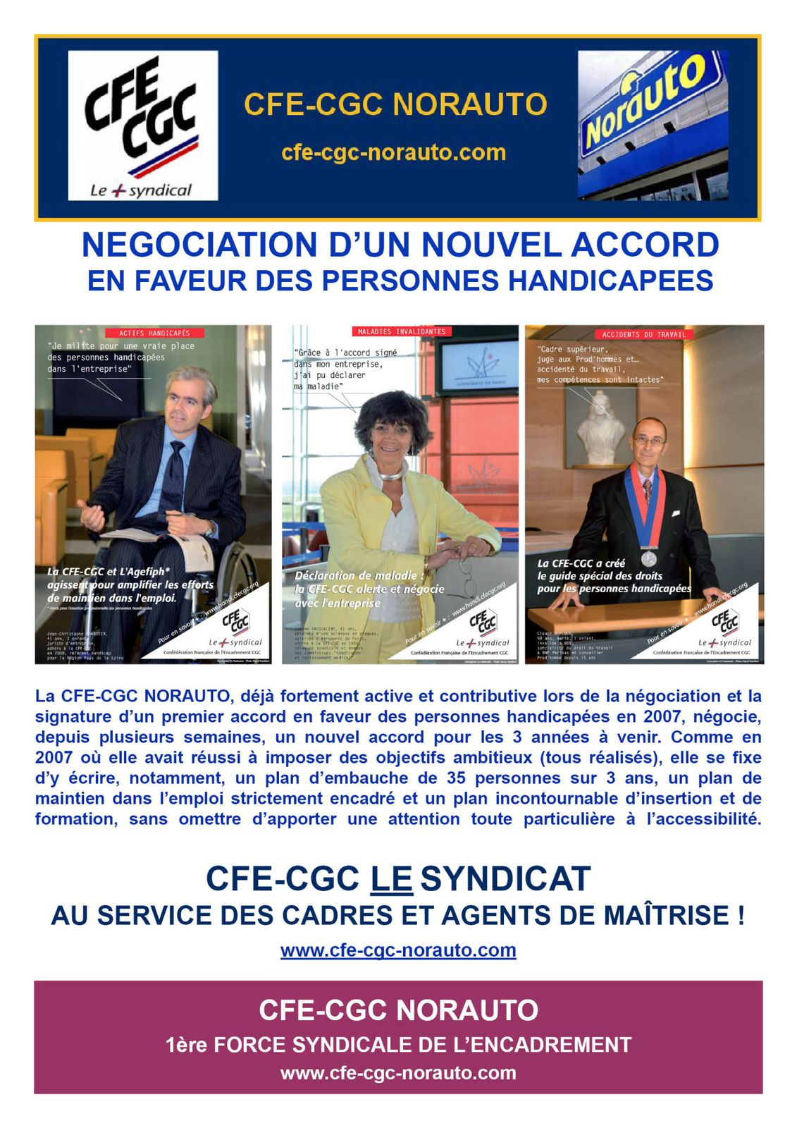 Négociation accord Handicap