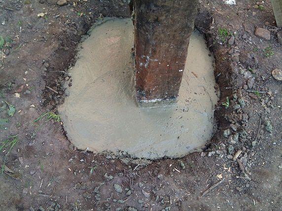 Album menuiserie le blog des travaux de nefastseven - Comment couler un poteau en beton ...
