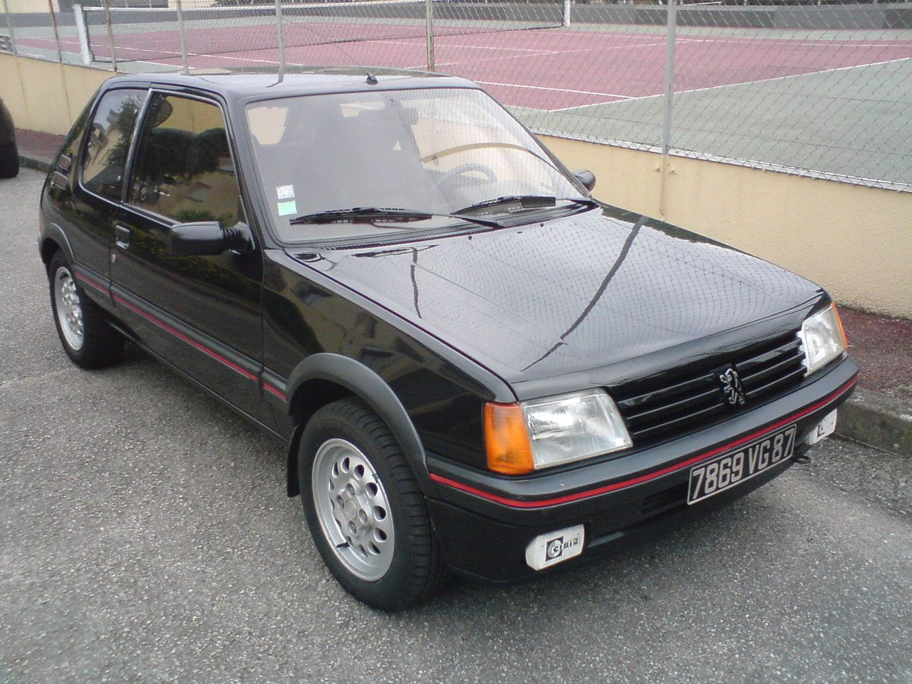 1984 1992 peugeot 205 gti 1 6 dark cars wallpapers. Black Bedroom Furniture Sets. Home Design Ideas