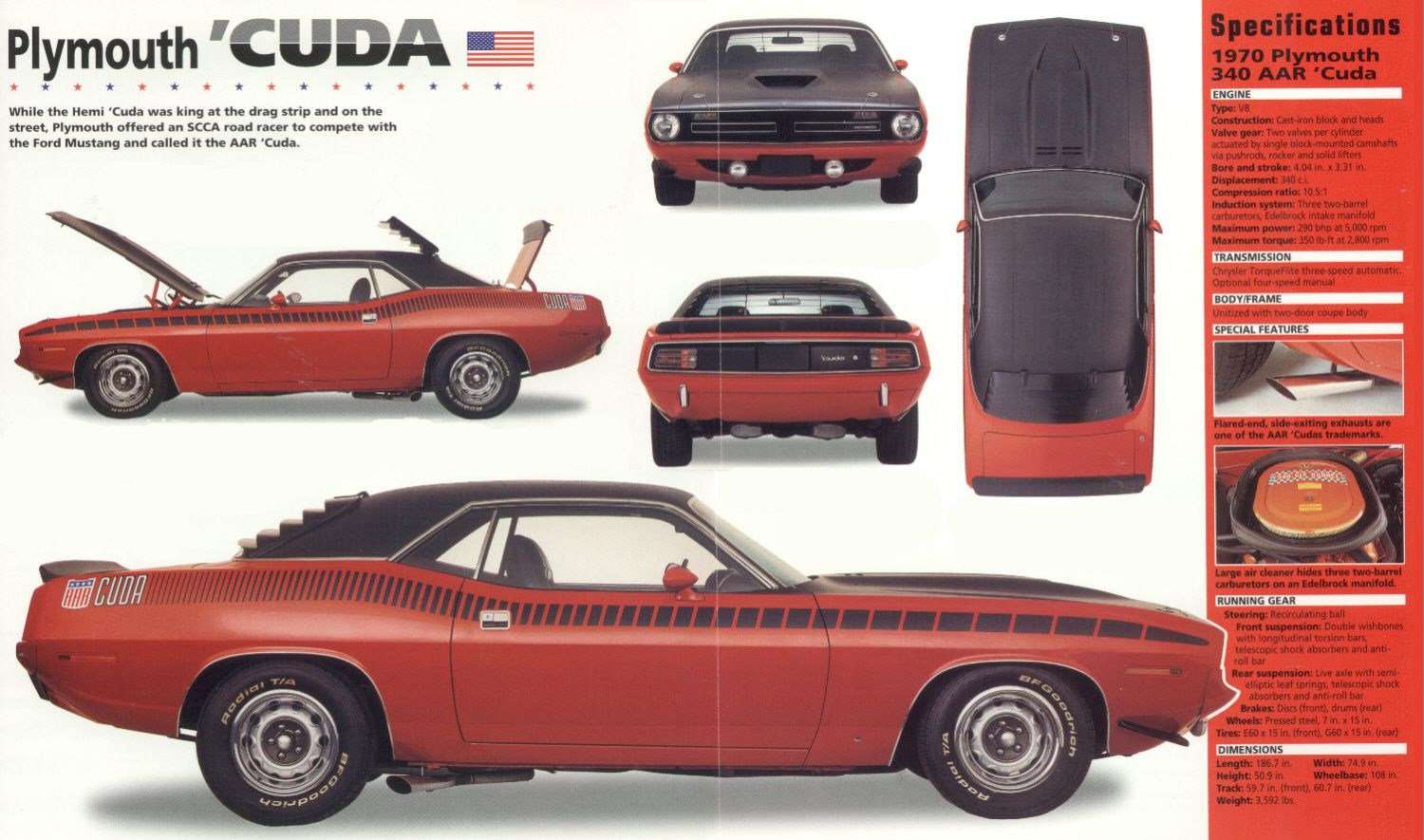 1970 1974 Plymouth Barracuda Troisi 232 Me G 233 N 233 Ration