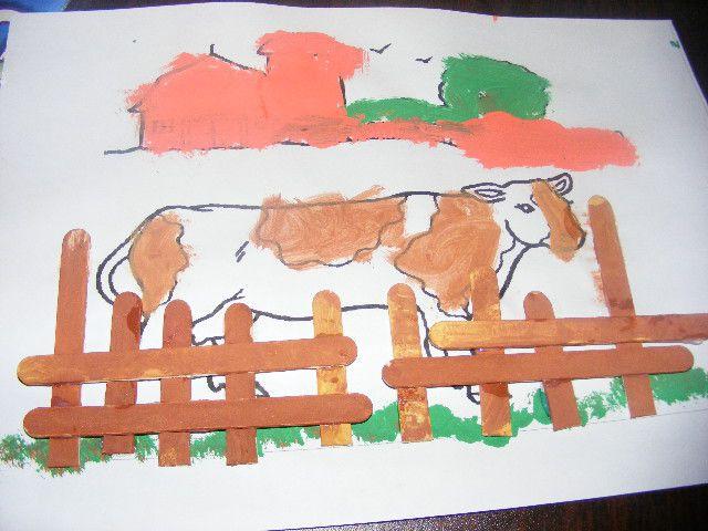 Bevorzugt animaux de la ferme : la vache et le canard - LA CLASSE DE IZAS NR79