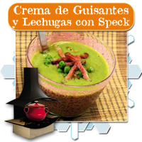 Crema de Guisantes y Lechuga con Speck