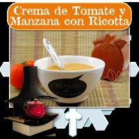 Crema de Tomate y Manzana con Ricotta