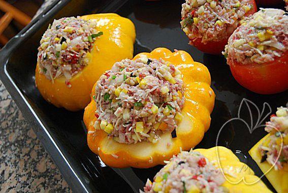 Verduras rellenas con dúo de jamón (2)