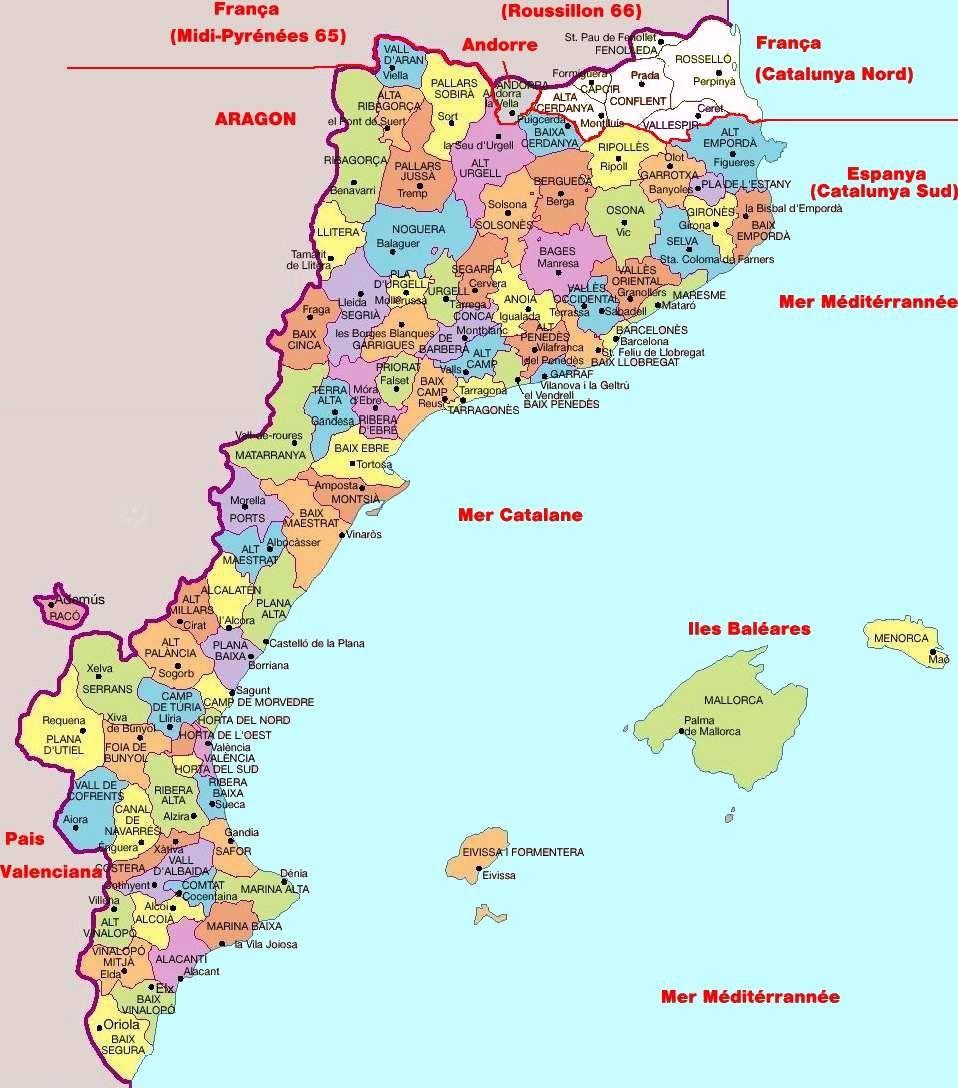 Carte Espagne Nord Est.Nord Est Espagne Carte Effegetangesj