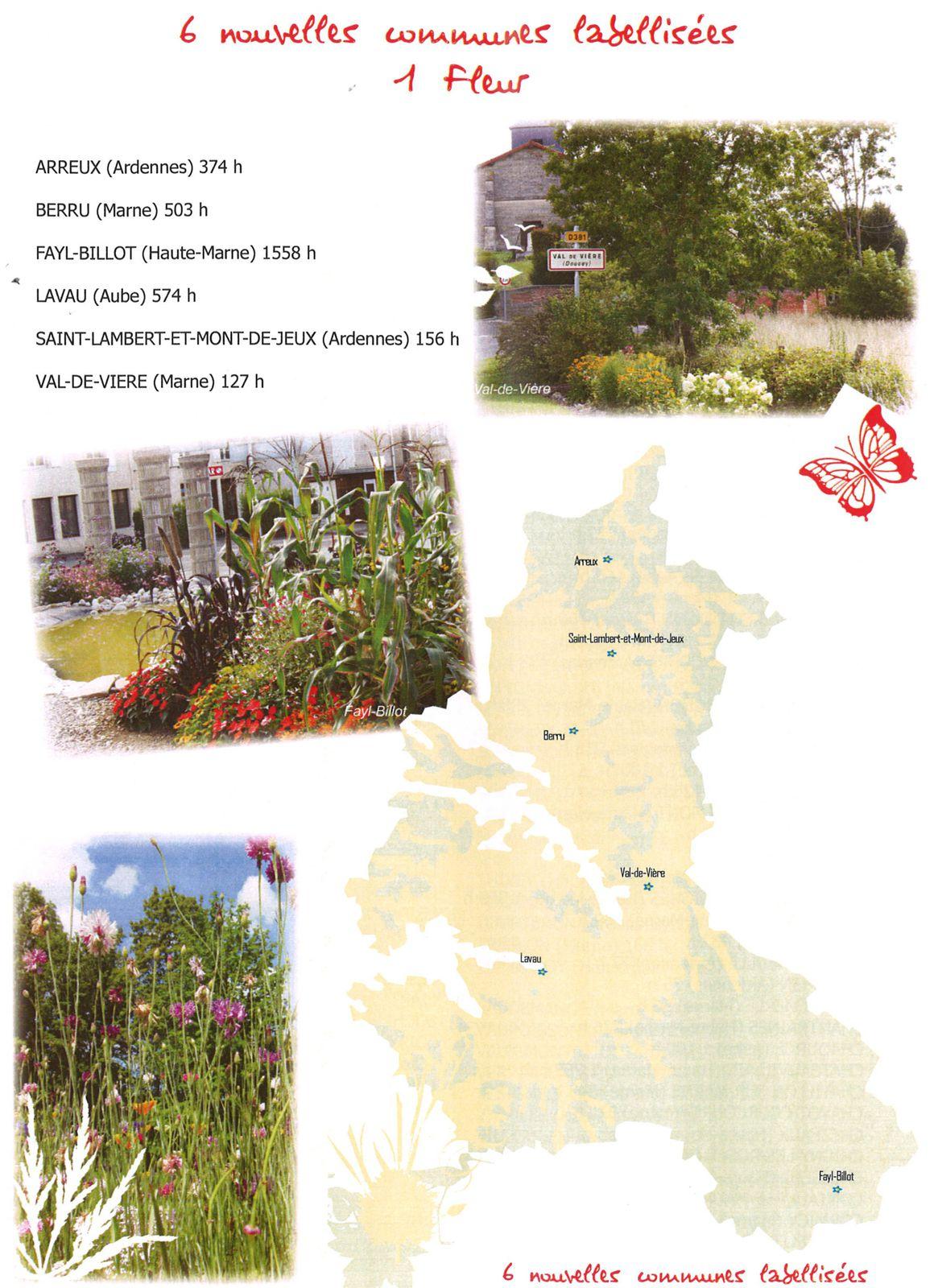 21/08/2012  : Notre 1ère Fleur au palmares des Villages Fleuris
