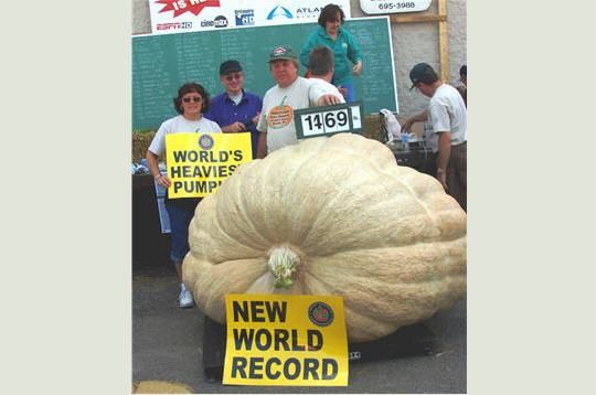 record du monde du plus gros potiron 643 Kg in natures paul