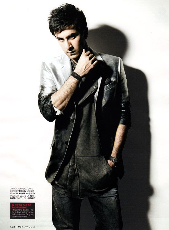 Ranbir est le cover-boy de GQ INDIA (Mai 2011) 3