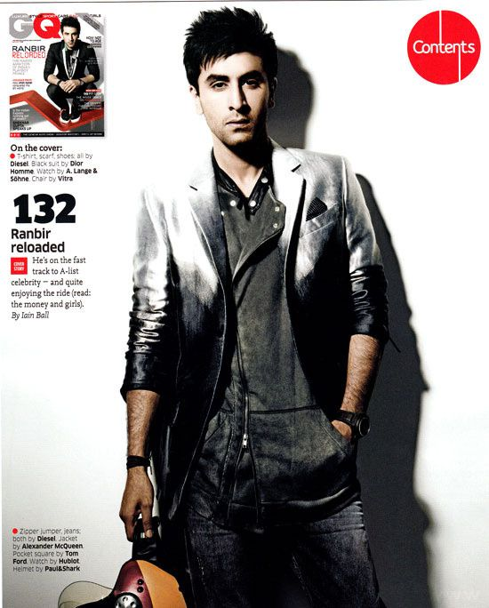 Ranbir est le cover-boy de GQ INDIA (Mai 2011) 5