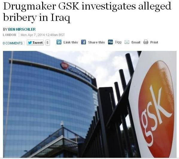 GSK corruption irak