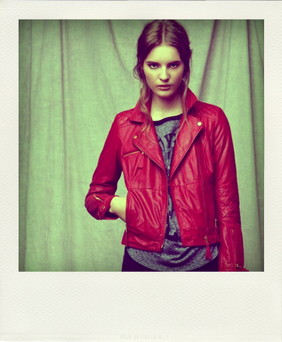 Blouson Cuir Rouge Zara 119 Euros - Collection Aut-copie-3