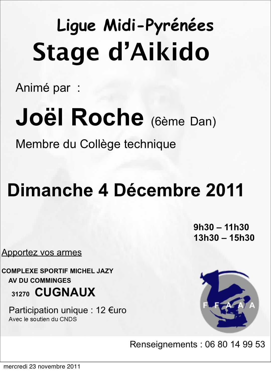 Stage ligue J.Roche