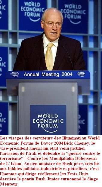 Dick Cheney world economic forum davos 2004