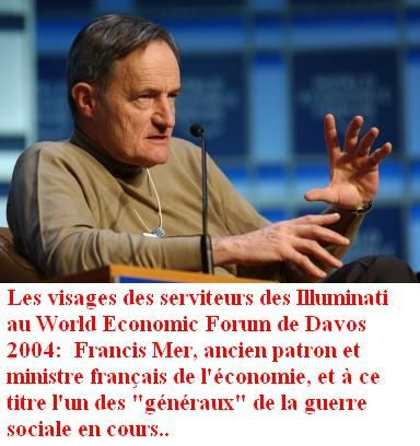 Francis Mer World Economic Forum de davos 2004