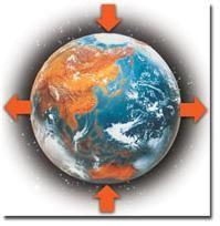 Périmètre de la Terre enfle à l'équateur