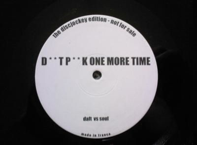 One More Time / Can't Get Enough (3 Boot Remix + Accap) / Daft Punk Feat Soulsearcher / White /