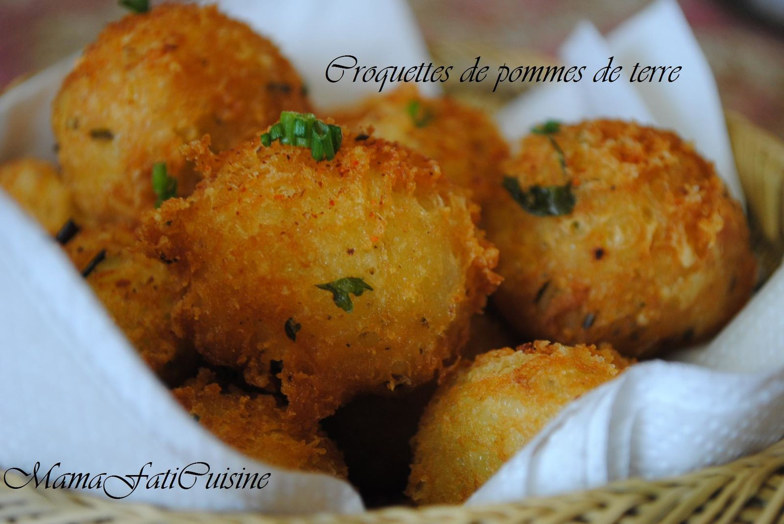 croquettes de pommes de terre au fromage mama fati. Black Bedroom Furniture Sets. Home Design Ideas