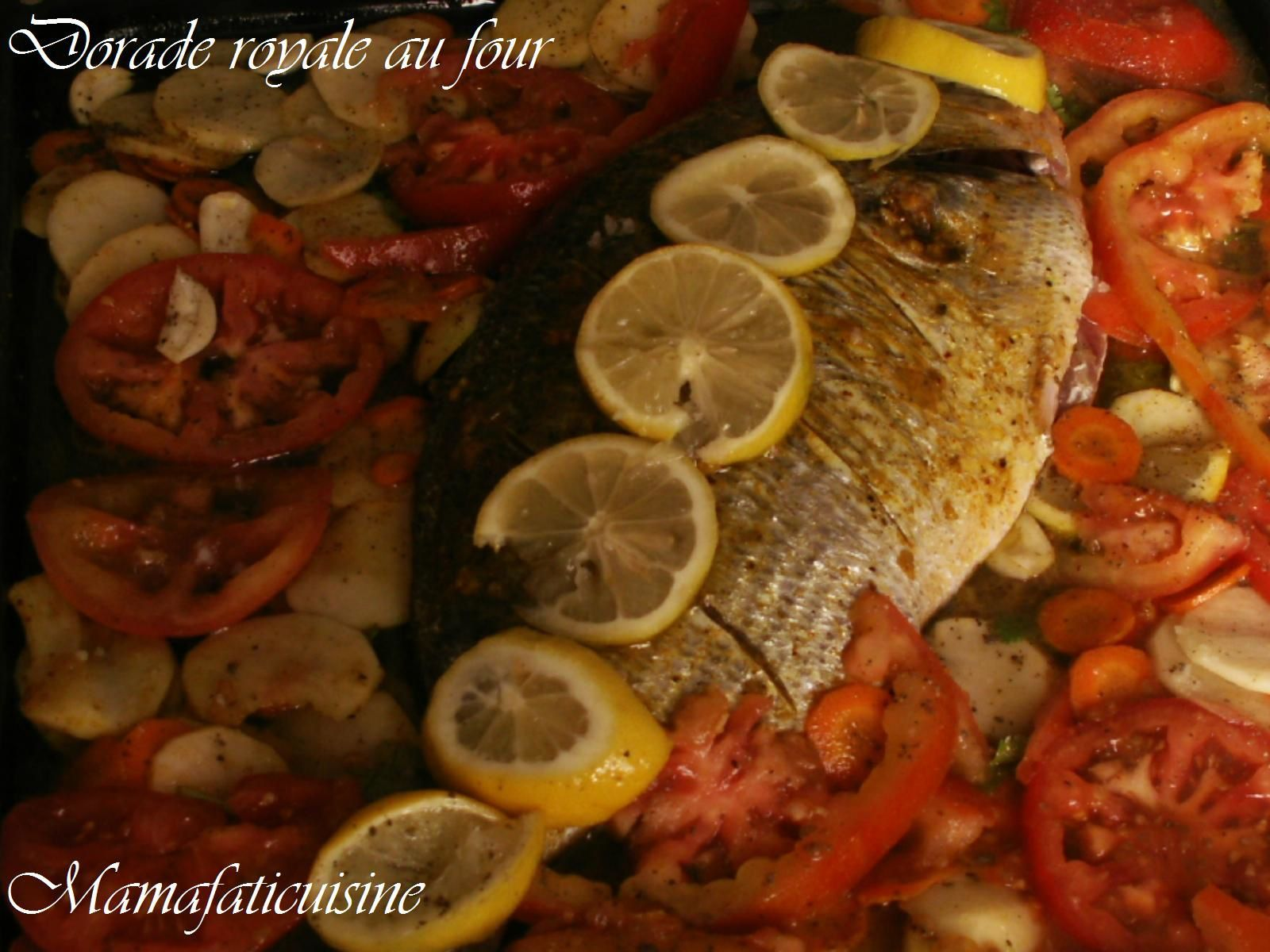 Dorade royale au four mama fati - Recette daurade royale au four ...