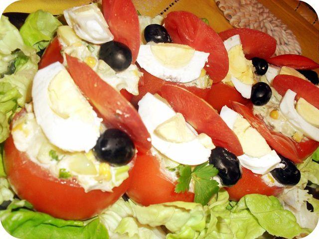 salade de tomates farcies