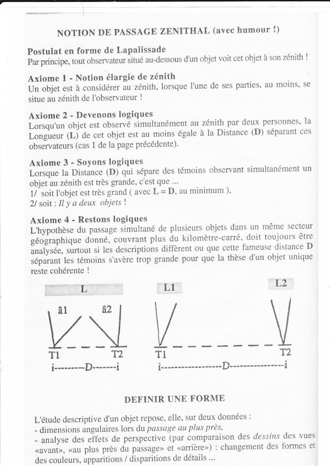 Classification des rencontres ovnis