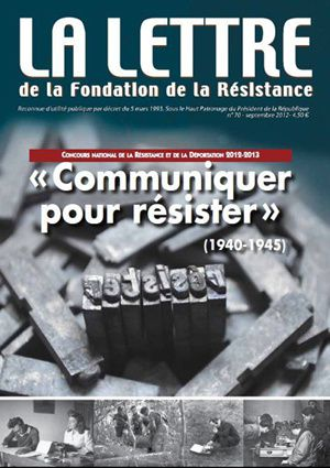 couverture LA LETTRE CNRD 2012-2013