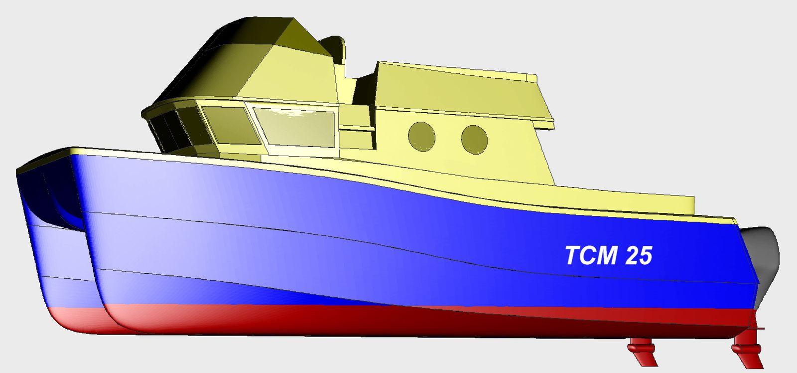 catamarant de croisière cotière 7.50 m x 3.5 m