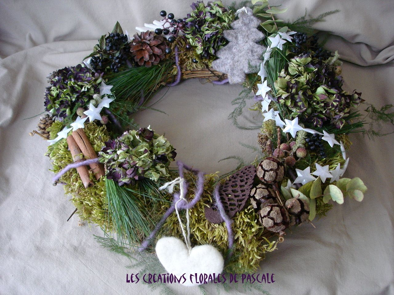 Album couronne r cr ation florale blog d 39 art floral - Decoration couronne de noel ...