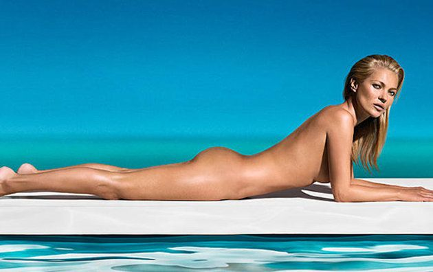 Kate Moss coquine et toute nue.