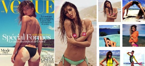 Naked Gisele Bundchen nue dans Vogue Paris!