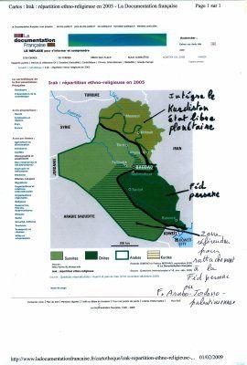 Division de l'Irak, selon le roman