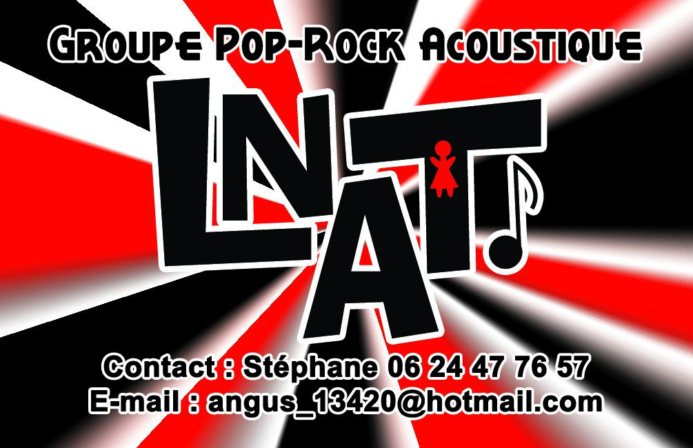 Cartes De Visite Du Groupe Pop Rock Acoustique LNAT