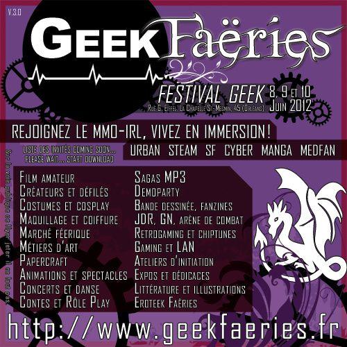 Flyer des Geek Faëries 2012, 1er version