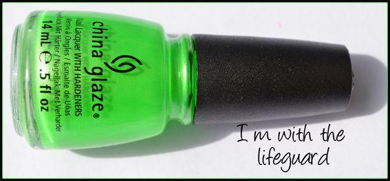 vernis ongles vert fluo