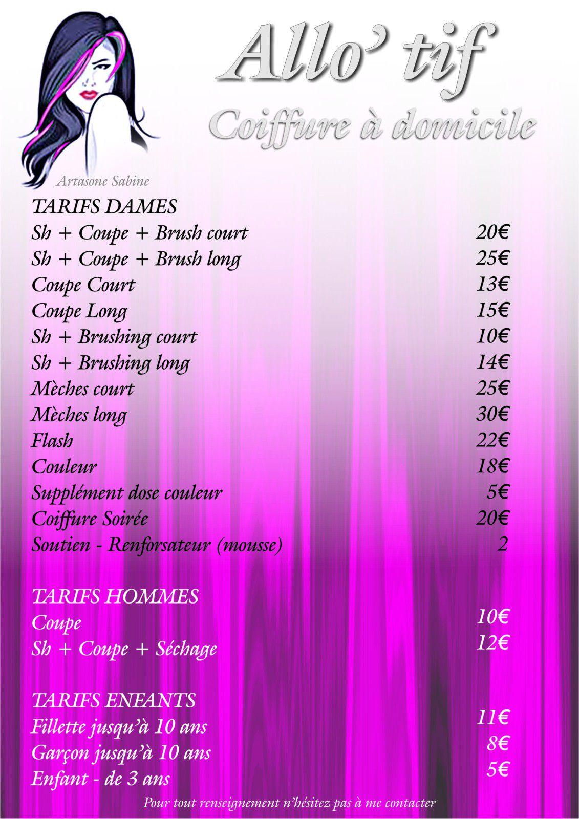 Coiffure A Domicile Frontignan Allo Tif Coiffure Domicile Herault 34