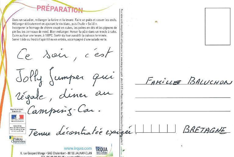 Carton d'invitation mot