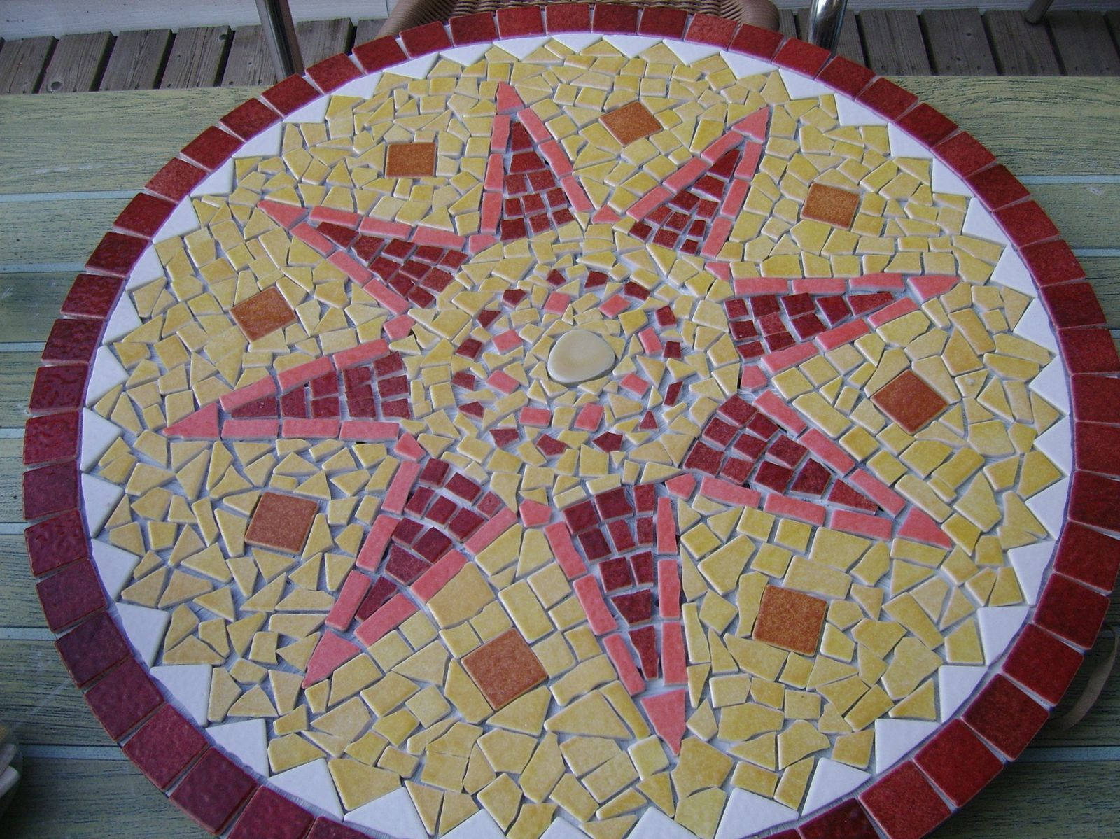 Le blog de vivi cr ation for Comment realiser une table de jardin en mosaique