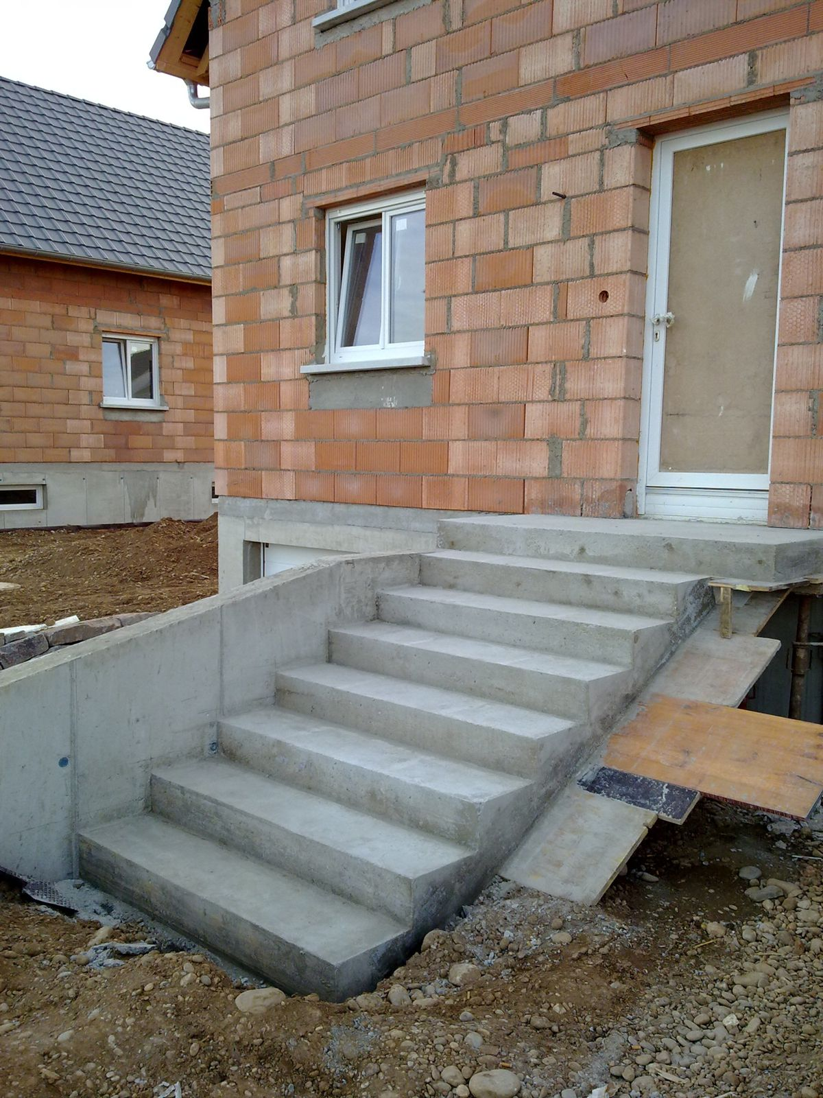 D coffrage escalier ext rieur j 206 la construction de for Escalier exterieur entree maison