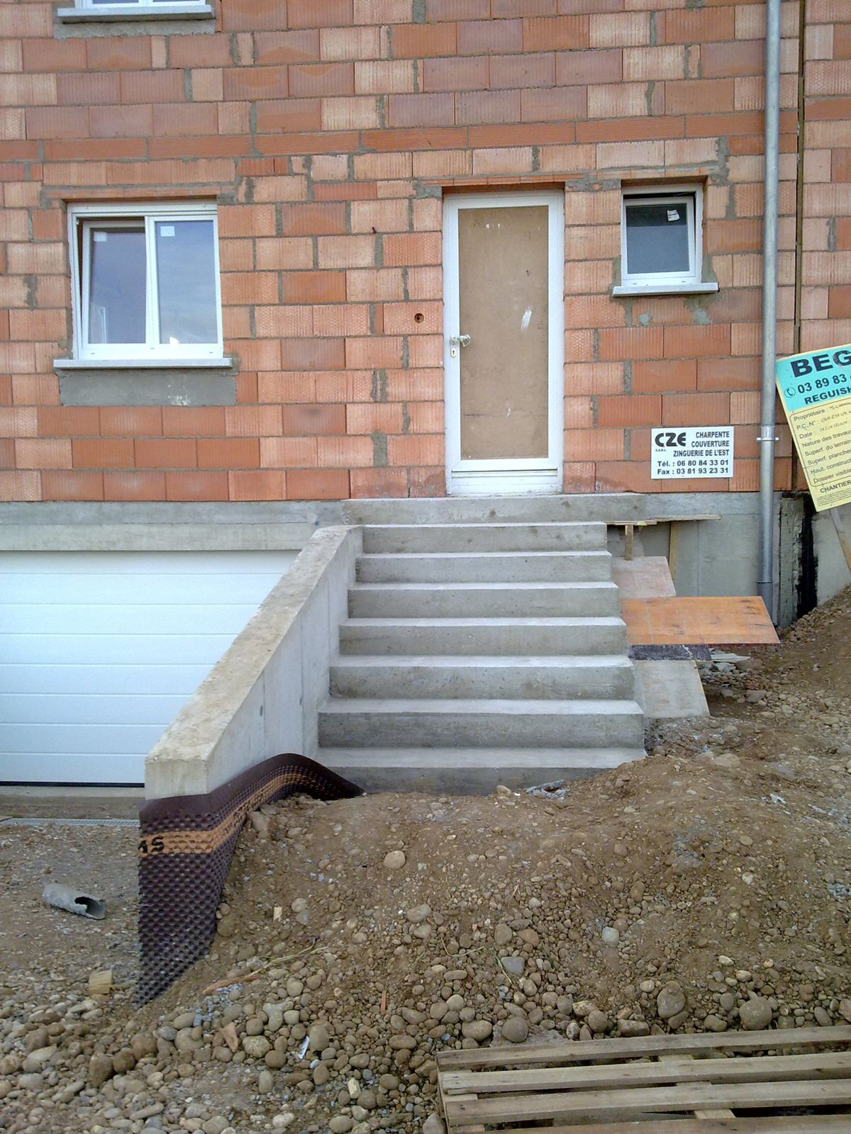 D coffrage escalier ext rieur j 206 la construction de for Escalier exterieur maison