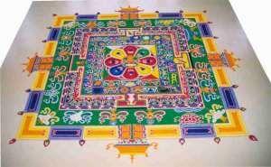 Mandala Sable Coloré