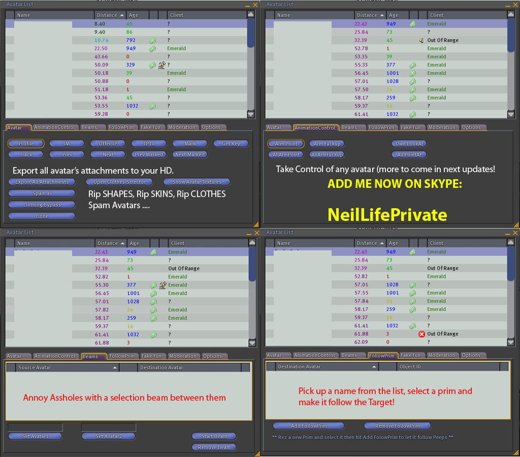 Neil Life Private Viewer, NeilLife, Secondelife - Scripts