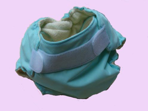 couche lavable bleue