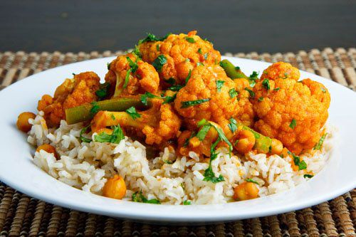 Cauliflower and Chickpea Curry - Serifos Rani