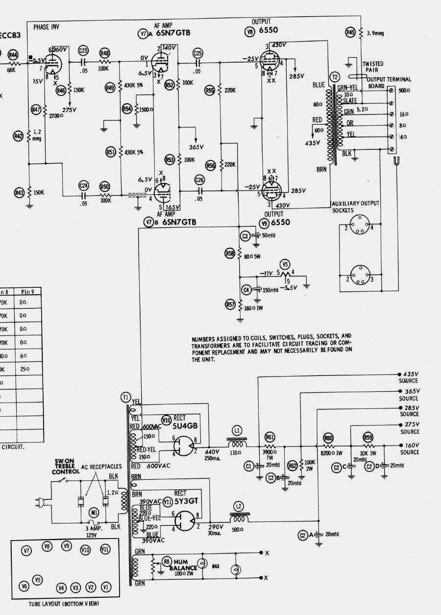 les amplificateurs  u00e0 tubes am u00e9ricains scott fischer ampex