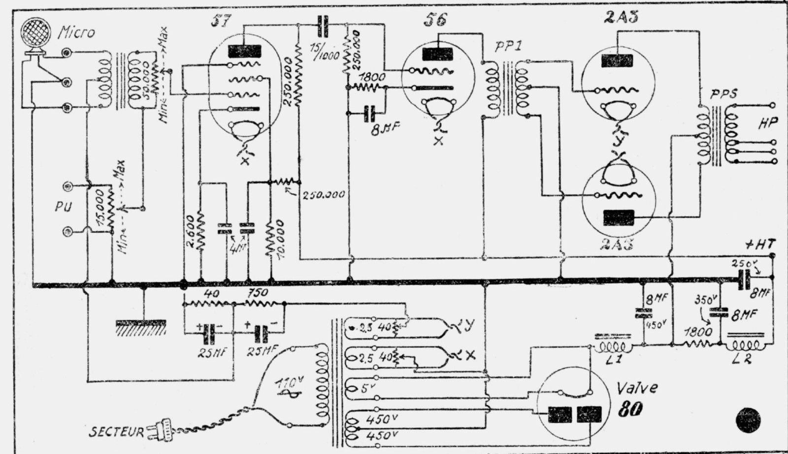 Philips Tube Radio Schematic Vintage Radio Schematics