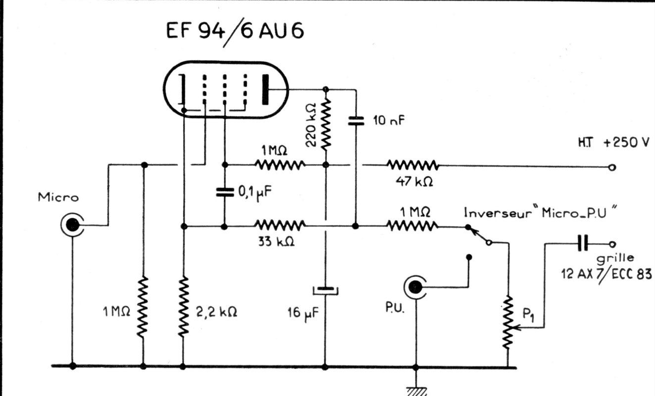 12au6 Preamp Schematic 12au6 Get Free Image About Wiring