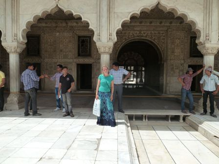 Samantha at the Red Fort in Dehli