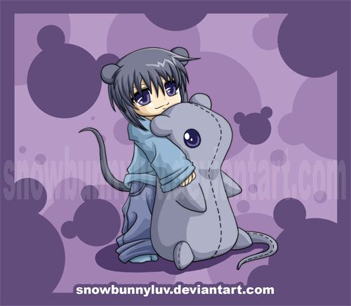 Fruits Basket Yuki plushie by snowbunnyluv