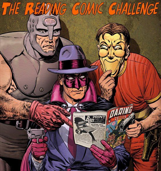 The reading Comics challenge logo1
