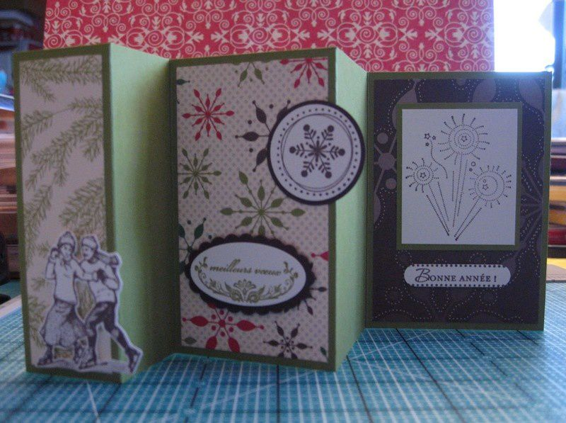 Accordion Fold Card face debout