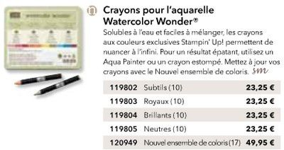 Crayons pour l'aquarelle Watercolor Wonder Nouvel ensemble